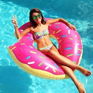Flotador donut gigante hinchable para piscina playa colchon colchoneta 120cm ebay - Colchonetas para piscina ...