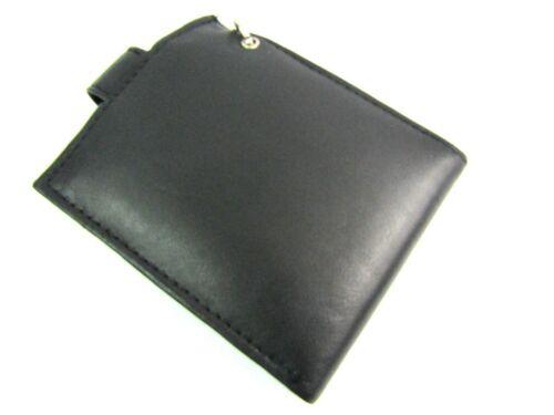 Cartera de cadena para hombre protegido RFID genuino cuero negro soporte tarjeta de crédito Bolso