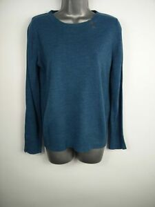 WOMENS-NEXT-PETITE-PETROL-BLUE-KNITTED-LONG-SLEEVE-JUMPER-SWEATER-PULL-OVER-UK10