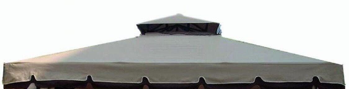 Telo tetto copertura gazebo Cipro 3x3 poliestere PVC impermeabile nocciola M0536