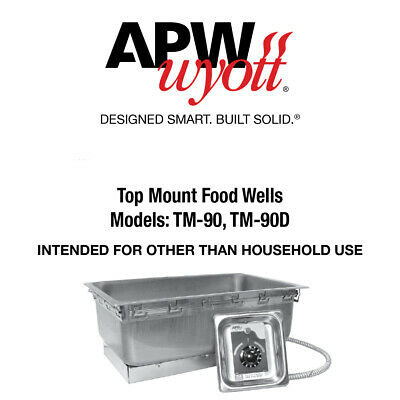 Sealed Hot Plate 208 Volt Apw Wyott 1410400