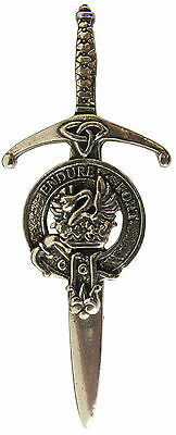 Robust /& Quality made in UK Clans A-L Premium SCOTTISH Clan Crest Kilt Pin