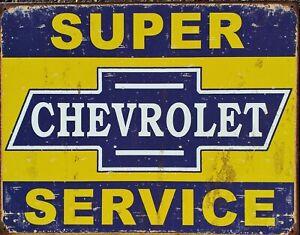 PLAQUE-metal-USA-vintage-CHEVROLET-SERVICE-40-X-30-cm