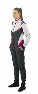 P1-Racewear-Donna-Ladies-Womens-2-Layer-FIA-Approved-Race-Rally-Suit