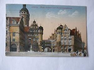 Ansichtskarte Leipzig 1921 Neues Rathaus und Verwaltungsgebäude - Eggenstein-Leopoldshafen, Deutschland - Ansichtskarte Leipzig 1921 Neues Rathaus und Verwaltungsgebäude - Eggenstein-Leopoldshafen, Deutschland
