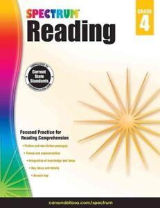 Spectrum-Reading-Grade-4-Paperback-by-Spectrum-COR-Brand-New-Free-shipp