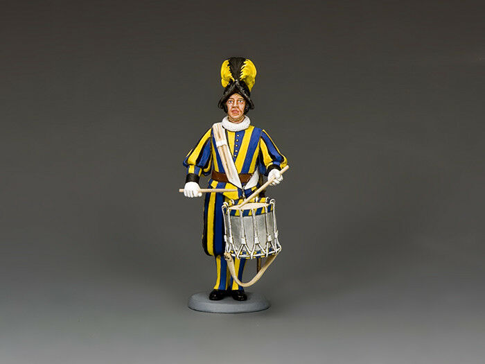 CE023 Swiss Guard Drummer by King & Country