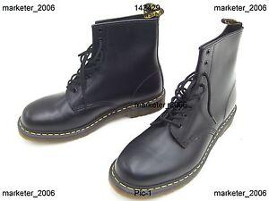 2af79a20a6b4 DOC DR. MARTENS 1460 BLACK SMOOTH BOOTS SHOES US MENS SIZE 13 NEW