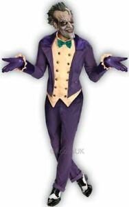 Adult Joker 3//4 Vinyl Mask Hair Halloween Batman Fancy Dress Costume Accessory