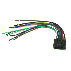 16 pin radio car audio stereo wire harness for kenwood kdc mp202 image is loading 16 pin radio car audio stereo wire harness