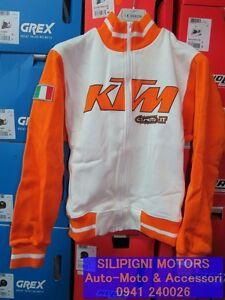 CEMOTO-Felpa-Donna-KTM-Cod-6039-Bianco-Arancio