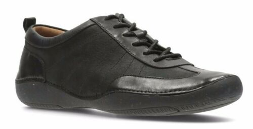 con 37 planos cuero damas 5 Reino para Zapatos Autumn Garden Clarks 5 negro Unido cordones 4 nR4wEpx