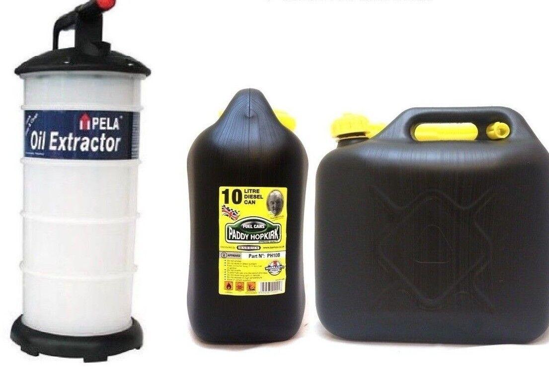 Pela Vacuum Mini 4 Ölextraktor Ölpumpe 4L Hand Pump & 10 Liter Jerry Can