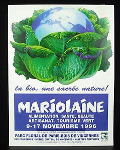 Marjolaine-il-bio-una-sacro-nature-Parigi-1996-Manifesto-d-039-esposizione