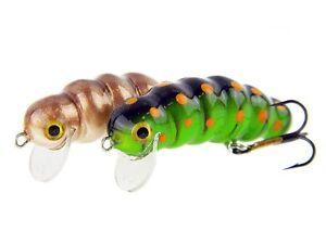 Microbait-Maggot-33mm-2g-floating-Polish-handmade-topwater-lure-Chub-Perch-Pike