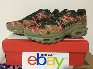 pretty nice a5a4c 50fe5 Details about Nike Air Max Plus TN Neutral Olive Green Pink Digi Camo  AJ4858-200 Men's SZ 8-13