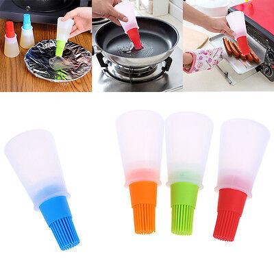 1Pc Silicone oil brush bottle kitchen BBQ tools cooking pancake baking basting G