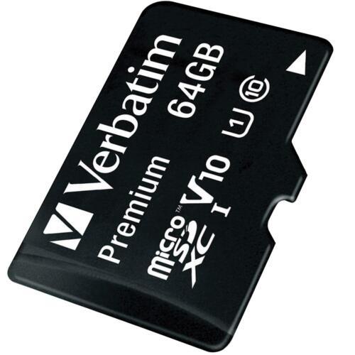 Verbatim Premium Micro SD 64 GB SDXC Speicherkarte Class 10 Adapter SD Karte