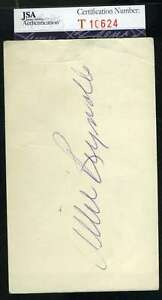 Allie Reynolds Jsa Coa Autograph 3x5 Index Card Hand Signed Authentic