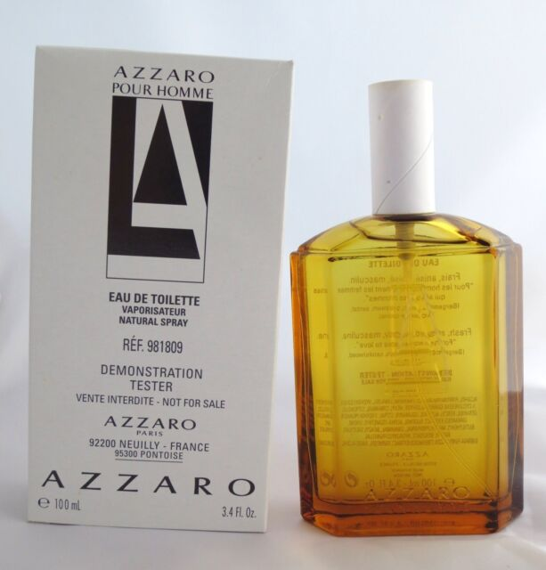 7c9a4cdb01a AZZARO pour Homme For Men Eau de Toilette EDT 3.4 oz 100 ml New TST in