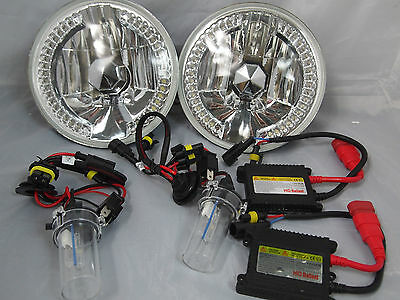 "97-14 Jeep Wrangler  7"" HID 6000k Conversion Clear LED Headlights REPLACEMENT"