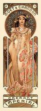 Moet &Chandon Cremant Imperial Champagne Alphonse Mucha Art Nouveau Poster Print
