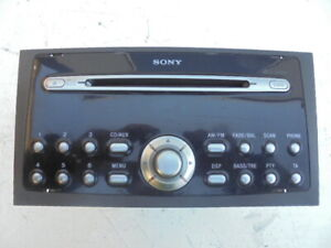 FORD MONDEO 2004 SONY 6 DISC CD RADIO HEAD UNIT WITH CODE