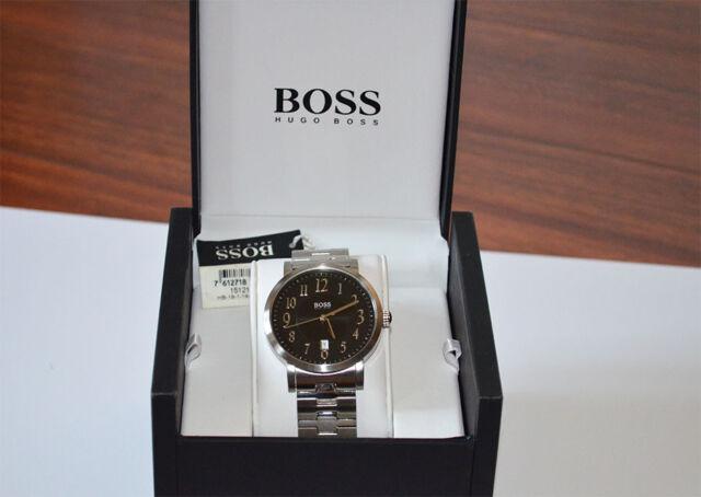 New Hugo Boss Black Round Dial Stainless Steel Case Men's Watch HB1512180