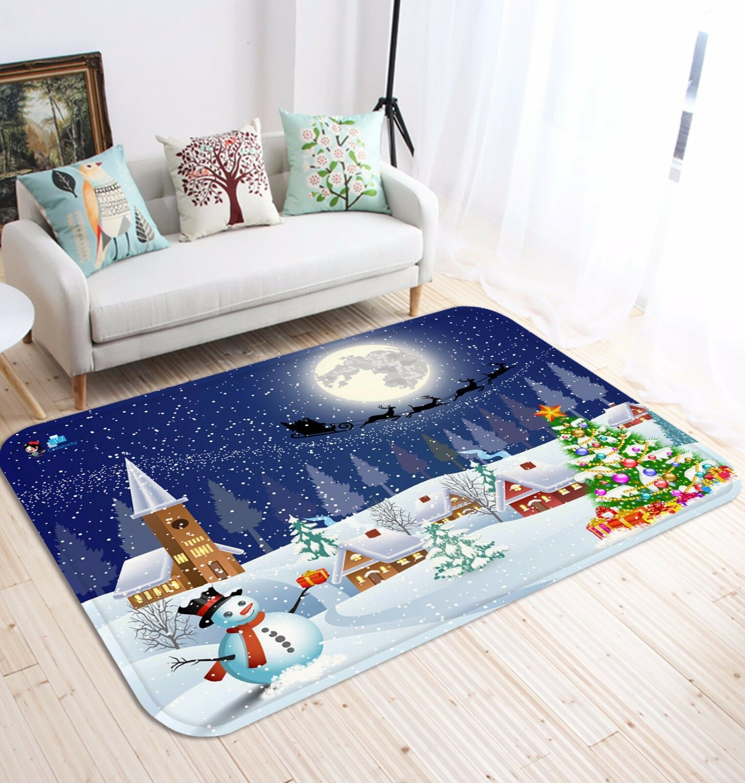 3D NEVICANDO ROAD 47 tappetino antiscivolo tappeto camera Tappetino Qualità Elegante foto Tappeto UK