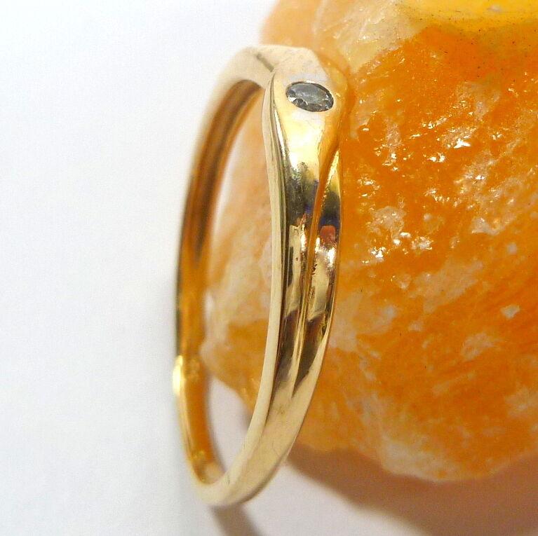 Anello d'oro in oro oro oro 333 8k con Zirconia 56 (17 8 mm Ø) 9af74c
