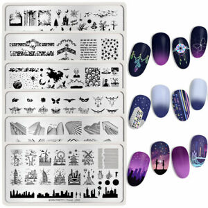 BORN-PRETTY-Nail-Art-Stamping-Plates-Halloween-Ghost-Nail-Stamp-Image-Templates