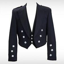 "Prince Charlie Kilt Jacket With Waistcoat/Vest - Sizes 36""- 54"" (DHL Shipping)"