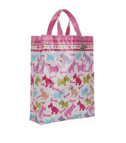HARRODS HIGHLAND TERRIER /& WEST Scottie Design Rosa Medium Bag-Free Portachiavi