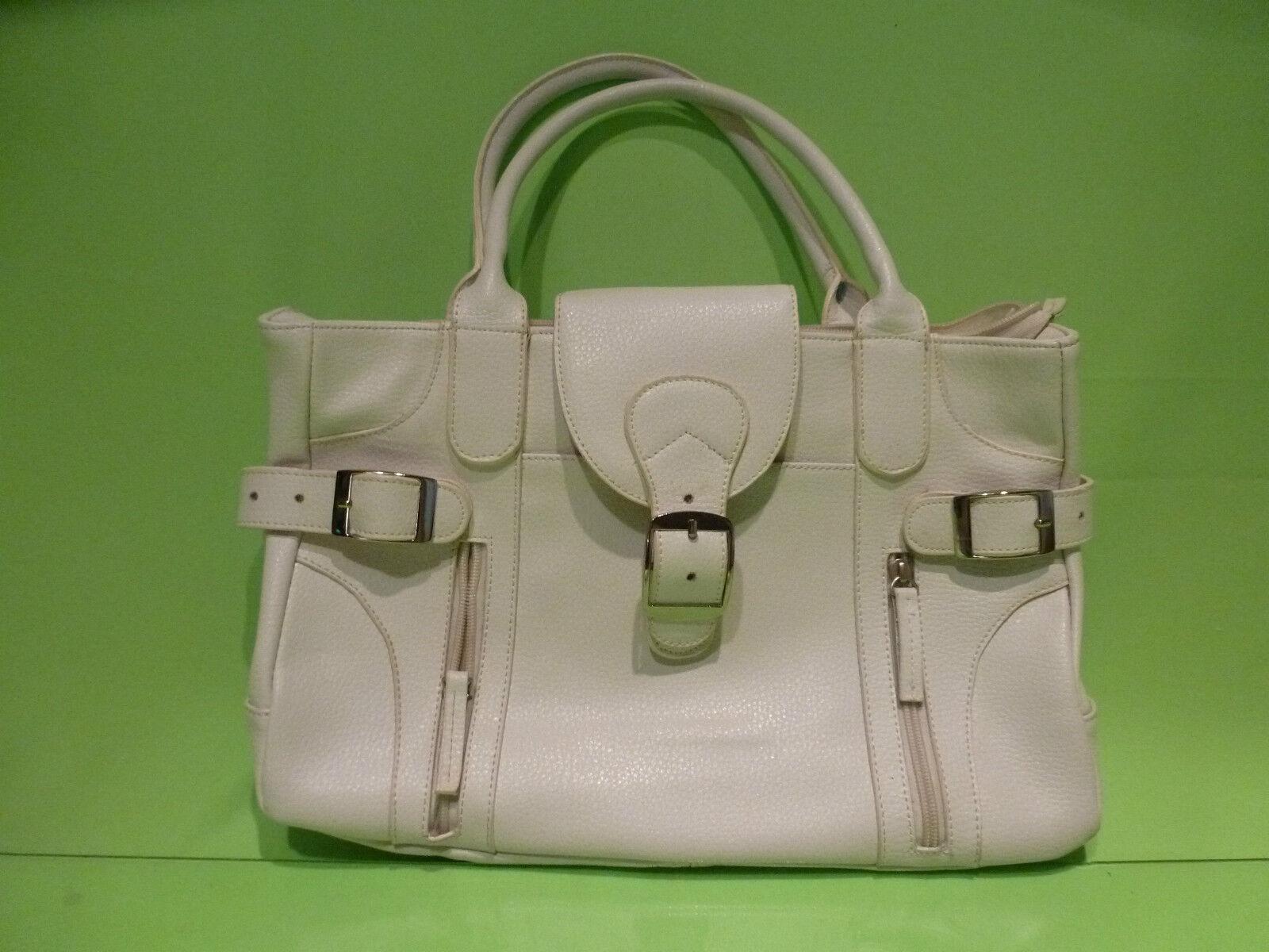 blanc LEATHER BAG - VINTAGE BAG -  EXTREMELY  RARE .
