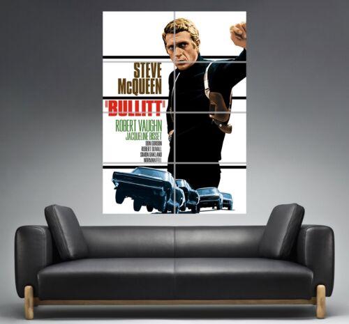 BULLITT Steve Mcqueen Poster Vintage Movie Wall Grand format A0  Print