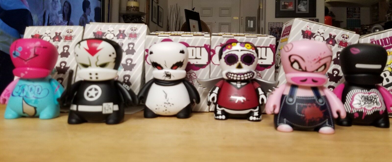 6 Bic Buddy Vinyl Figures Kano Sket Woebots Periwinkle Indie84 Cope2. Dunny Rare
