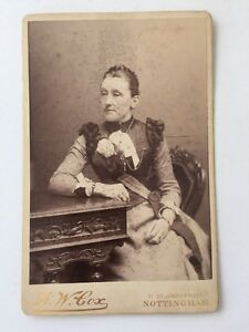 Large-Victorian-Cabinet-Card-Photo-CDV-Lady-AW-Cox-Nottingham