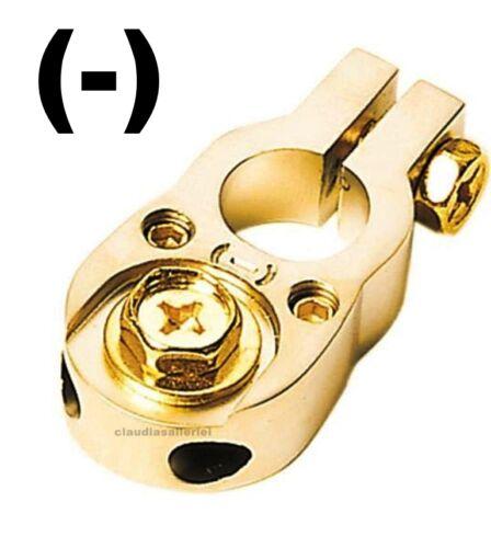 - ACV Batterieklemme Minuspol für 2 x 10mm² Kabel für Verstärker Endstufe