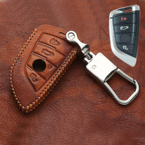 Leather Blade Style Key Bag Key Case Holder 1pcs for BMW X5 F15 14-18 X6 15-18