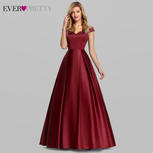 Bleu Marine élégant Femme Long Prom Dresses 2020 EVER PRETTY A-ligne V-cou