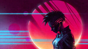 Details about Retro Wave Scandroid Sun Silk poster wallpaper 24 X 13 inches