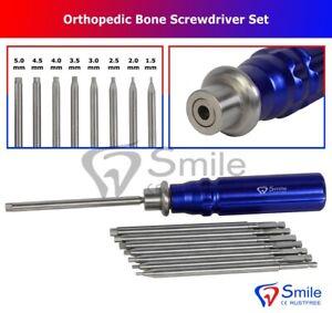 Orthopaedische-Knochen-Schraubendreher-Set-mit-Schnellanschluss-Griff-Chirurgische-Instrumente