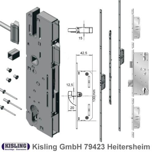 35 40 45 50 55 65 Dorn KFV Mehrfachverriegelung mit Schwenkhaken Kasten 130 mm