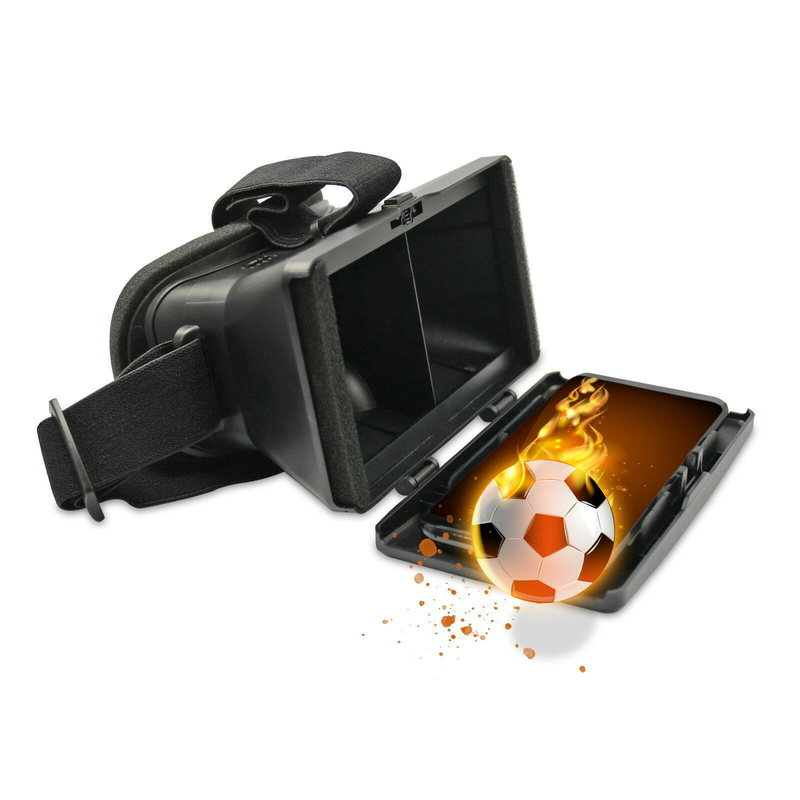 3D VR Brille schwarz für Huawei Y7 2019 Virtual Reality Box Glasses