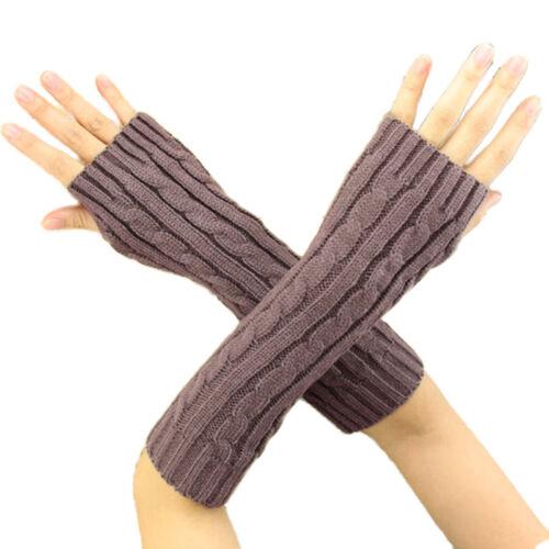 Damen Armstulpen Pulswärmer Fingerlos Handstulpen Handschuhe Winter Handschuhe