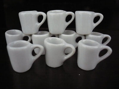 100 White Ceramic Kitchenware Dollhouse Miniatures Dish//Plate//Cup//Jug//Bowl