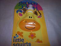 Stephen Joseph, Little Squirt, Eco Friendly Foldable Bottle, Bpa Free,giraffe
