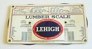 Details about Vintage Lehigh Cement Lumber Scale - Advertising