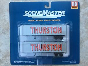 WALTHERS HO 1/87 SCALE THURSTON 40' TRAILERS 2-PACK ITEM # 949-2305 F/S