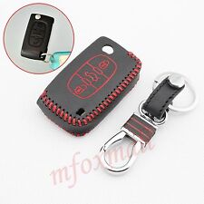 Leather Key Case Bag Box Protect Cover Trim For Peugeot 308 408 RCZ Accessories
